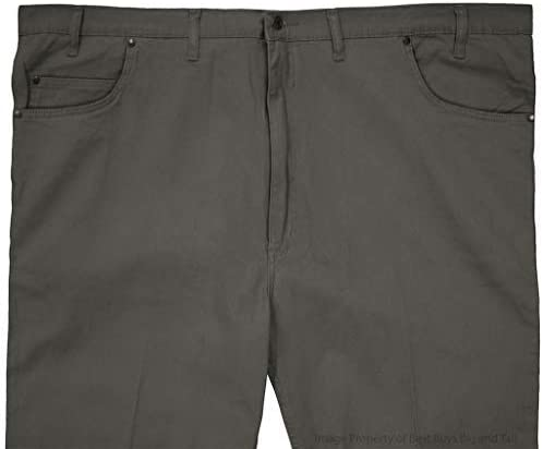 Full Blue 5-Pocket Performance Stretch Twill Pants Grey