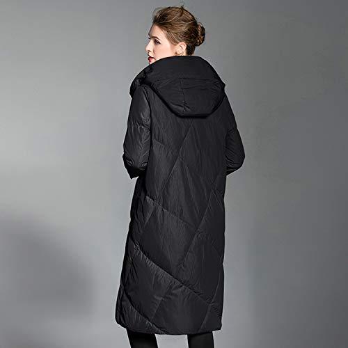 Cappotto Black Da Semplice Lungo Con Ideale Outwear Ragazze Per Autunno Cappuccio Piumino Le Grigio Donna Inverno Cjjc Moda nero UXqntfBBw