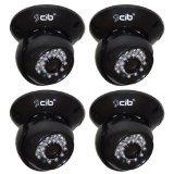 Cheap CIB CUC8401-4 420TVL indoor CCD Dome IR Day Night Security Camera Sharp Sensor.