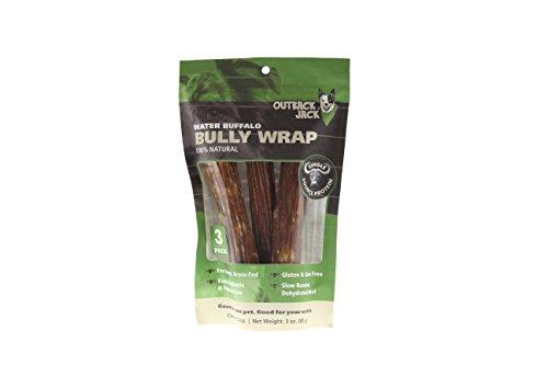 Outback Jack 70406Ea Water Buffalo Bully Wrap Dog Treats Dog Treat ( 1 Pouch), One Size