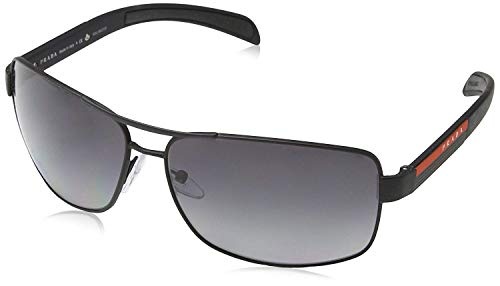 Prada Linea Rossa Men's 0PS 54IS Black Rubber/Grey Polarized (Prada Sonnenbrille Unisex)