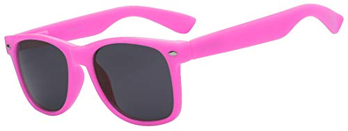 OWL Ladies Classic Vintage Sunglasses Retro 80's Pink Frame Smoke Lens