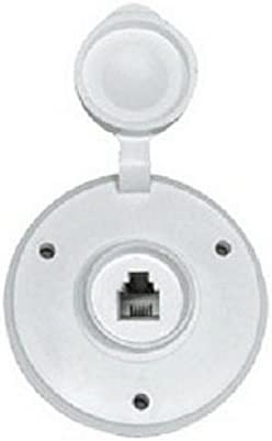 Prime Products 08-6210 RV Trailer Camper Electronics Phone Jack Round White 1
