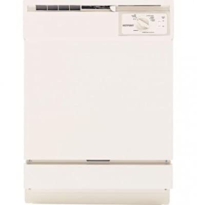 """HOTPOINT GIDDS-631134 Built-In 24"""" Dishwasher, Bisque, 5 Cycles/2 Options"""