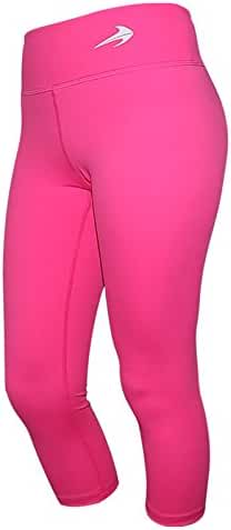 CompressionZ Women's Capris - Body Slimming Compression for Yoga, Fitness & Gym with Hidden Pocket