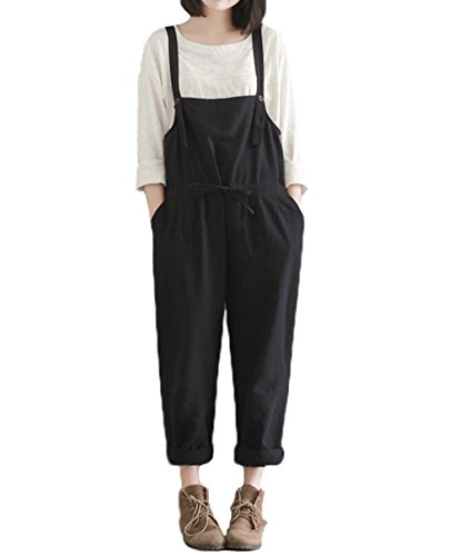 Bugaboo Fleece Parka (Hotmiss Women Linen Baggy Overalls Plus Size Stretchable Rompers Waist Strap Wide Leg Pants Jumpsuit Trousers (3X))