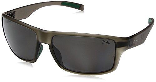 Zeal Optics Unisex Incline Matte Fatigue W/ Polarized Dark Grey Lens - Zeal Sunglass