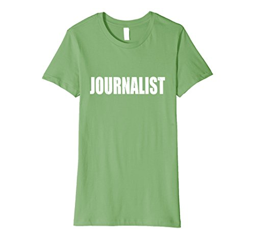 [Womens Journalist Halloween Costume Party Cute & Funny T shirt Small Grass] (Female Journalist Costume)