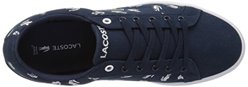 Lacoste Kids' Lerond Sneakers,Navy/White cotton canvas,5 M US Big Kid by Lacoste (Image #8)