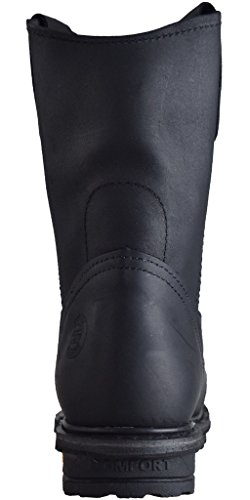 Cebu Mens Tractor 10 Work Boot Black