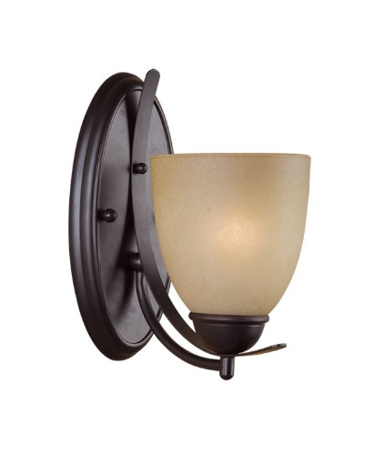 (Woodbridge Lighting 42038-MAB Kearney 1-Light Wall Sconce, Mahogany Bronze)