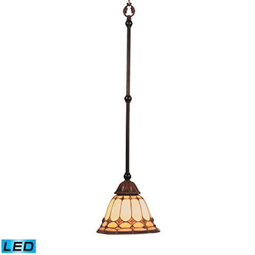 Diamond Ring 1-Light Pendant In Burnished Copper - LED Offering Up To 800 Lumens (60 Watt Equivalent) With Full Range Dimming. Includes An Easily Replaceable LED Bulb (120V).