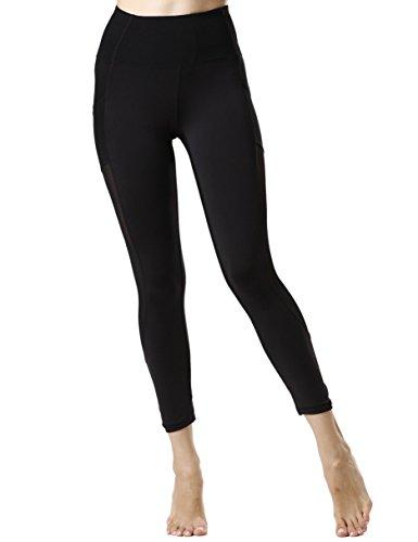 icyzone Tummy Control Slimming Shaping High Waist Yoga Tights Leggings With Mesh