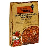 Kitchens of India Ready to Eat Navratan Korma, Mixed Vegetable Curry & Cottage Cheese, 10-ounce Boxes (Pack of 2)