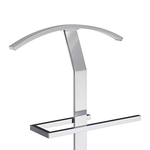 112 x 47 x 30 cm Silver 30x47x112 cm Freestanding Butler H x W x D Approx Hanger Coat Rack Stand Metal Relaxdays Valet Men