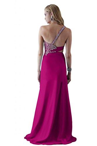 Toscana sposa general-case un-spalla kraftool Chiffon stanotte vestimento per damigella Party Ball Bete vestimento viola 54