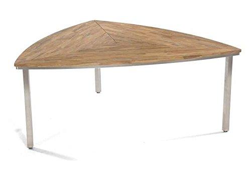 SonnenPartner Tisch New Orleans-Triangel 170 cm Abmessungen: 170 x 170 x 75 cm Tischhöhe: 75 cm Material Gestell: Edelstahl Material Tischplatte: Old-Teak-Look Gewicht: 37 Kg