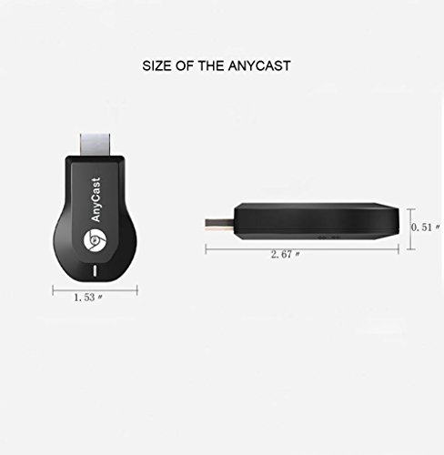Wireless WIFI Display Dongle, 1080p HDMI Miracast Dongle for TV Screen Mirroring Device for iPhone iPad Mac Samsung Android, Supports DLNA/ Airplay Mirror /Miracast/ Ezcast/ Chromecast by Ambibull (Image #1)