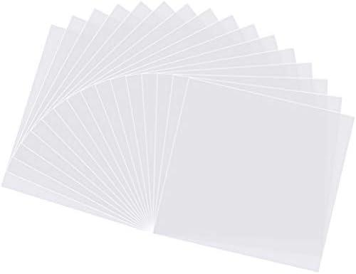 LifeBest Paquete de 10 Hojas de Plantilla Mylar Transparentes de 4 mil Plantillas en Blanco de 12x 12 Plantilla Reutilizable para la m/áquina de Corte de Vinilo Cricut DIY Hacer Plantillas de dise/ño