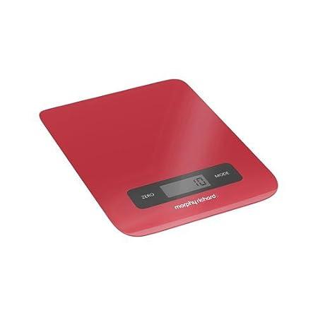 Morphy Richards 46181 Mesa Báscula electrónica de cocina Rojo ...