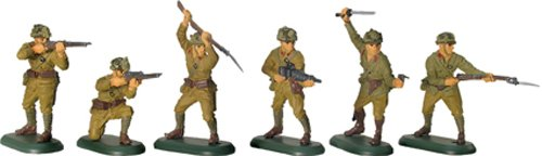 W Britain Super Deetail Toy Soldiers 52011 WWII Japanese Infantry 6 Piece Set No.1 in GIFT BOX Collectible Toy Soldier 1/32 Scale Painted (Toy Soldiers Infantry Set)