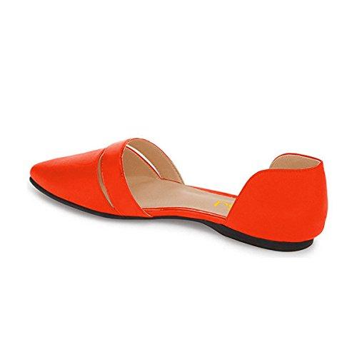 Fsj Kvinder Sød D'orsay Ballet Lejligheder Til Komfort Pegede Tå Lave Hæle Kjole Sko Størrelse 4-15 Os Appelsin T4tHi6