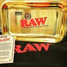 RAW 24kt Gold Plated 10 Year Anniversary Rolling Tray - (Limited Edition) by RAW (Image #2)