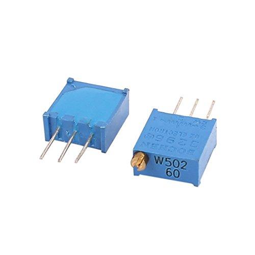 uxcell 5 Pcs Potentiometer Variable Resistor Resistive 3296 W502 5K Ohm