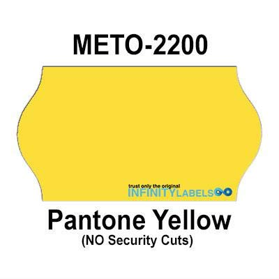252,000 Meto 2200 Compatible Pantone Yellow General Purpose Labels for Meto 6.22, Meto 8.22 Price Guns. Full Case + 12 Ink Rollers. NO Security cuts. ()