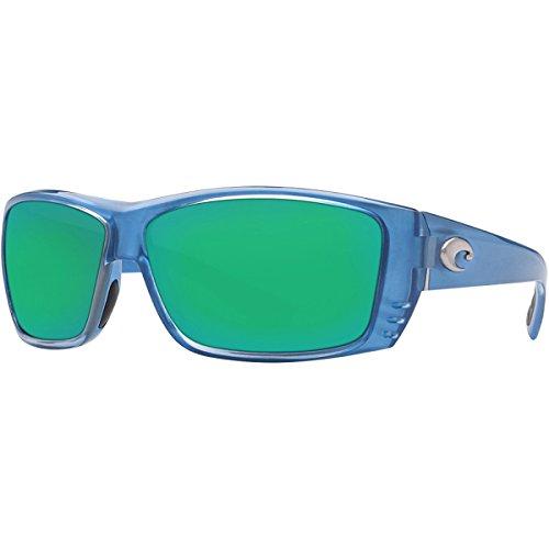 Costa Del Mar Cat Cay Men's Polarized Sunglasses, Sky Blue/Green Mirror Glass - W580, Large
