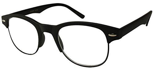 Edge I-Wear Retro Inspired Round Horned Rim Half Frame Reading Glasses - Frames Glass I