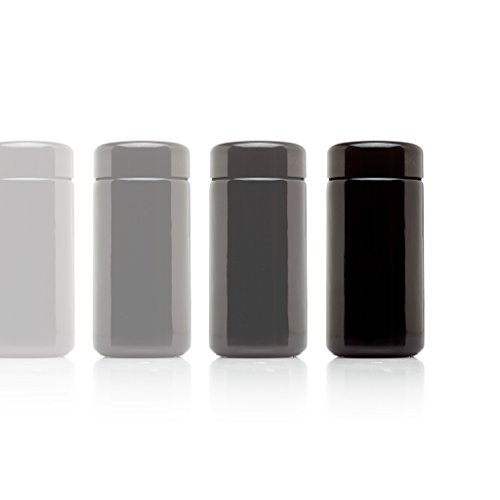 Infinity Jars 100 ml (3.3 fl oz) 10-Pack Tall Black Ultraviolet Refillable Empty Glass Screw Top Jar (Antique Spice Jars compare prices)