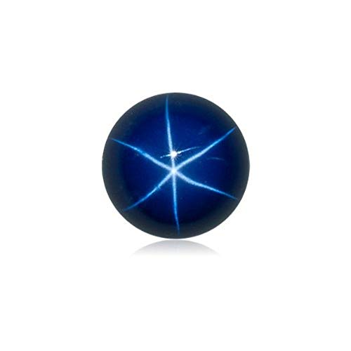 0.89-1.55 Cts of 6 mm Round Cabochon Synthetic German Lab Created Star Sapphire (1 pc) Loose Gemstone