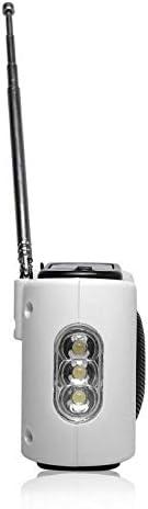 CanKun AM//FM Einstellung Frequenzradio Handkurbel Strom Solarbetriebene USB-Mobile-Telefon-Notladeger/ät Mini-USB externen 5V-Power-Lader-Digitalfrequenz LED-Beleuchtung
