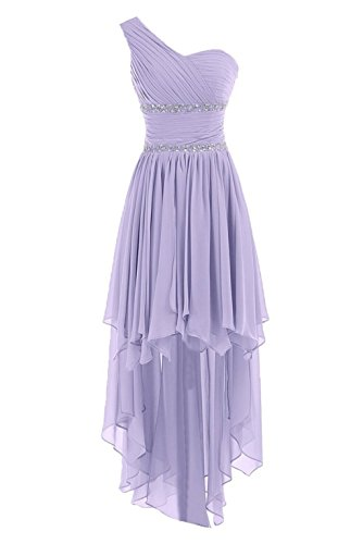 Brautjungfernkleid Kurz Abendkleider Ballkleid Crystal Damen Fanciest Lavender 2016 Pqw7YRxWv