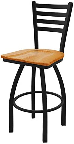 Holland Bar Stool Co. 41030BWMedOak 410 Jackie Swivel Bar Stool, 30 Seat Height, Medium Oak