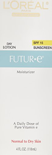 L'Oreal Paris Futur-e Day Face Moisturizer with SPF 15 Lotion with Vitamin E for Normal to Dry Skin 4 fl. oz.