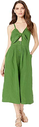 Juicy Couture Women's Washed Linen Dress Pine 2