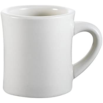Amazon Com 8 Oz Ounce White Diner Style Coffee Mug