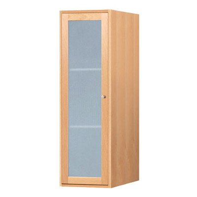Ronbow 679018-1-W01 Shaker Linen Cabinet Storage Tower with Frosted Glass Door, 18'', White by Ronbow