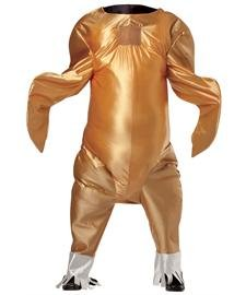 [Rasta Imposta Gobbler The Turkey, Gold, One Size] (Turkey Costumes)