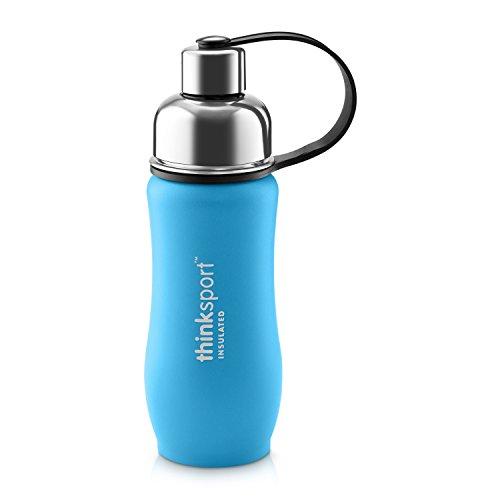 - Thinksport Stainless Steel Sports Bottle, Light Blue, 12 oz