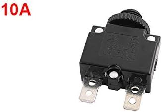 uxcell 押しボタンスイッチ 過負荷保護 サーキットブレーカ シリンダー保護具 10A AC250V