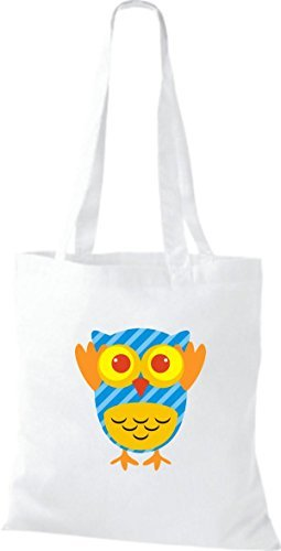 Shirtinstyle Striped Boxes Retro Jute With Dots Various Owl Bag Pretty Colorful Handbag White Owl PwAqrPX