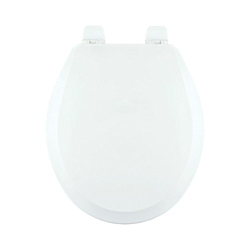 Centoco 700-301 Wood Round Toilet Seat with Closed Front, Crane White by Centoco (Image #1)