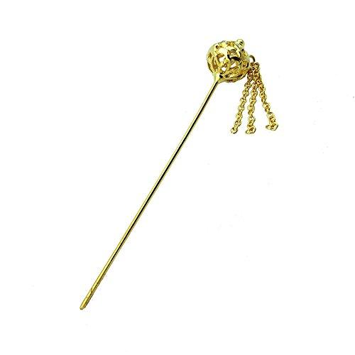 [Siwalai Thai Traditional Gold Plated Hair Pin 5 Inches] (Thai Dance Costume)