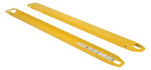 vestil FE-4–72Horquilla de acero Extensiones, accommodates 10,2cm Tenedor ancho, 182,9cm longitud, 5,1cm grosor
