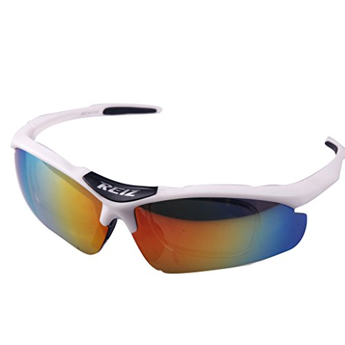 REIZ RZ102 Cycling Outdoor Bike Sports Eyewear Colorful Reflective Lens Sun Glasses Goggles 4 Colors