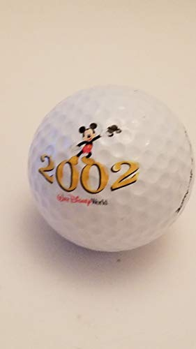 2002 Walt Disney World: Mickey Mouse Waving Micky Mouse Cap Golf Ball by Pinnacle 3 (Titanium Distance)