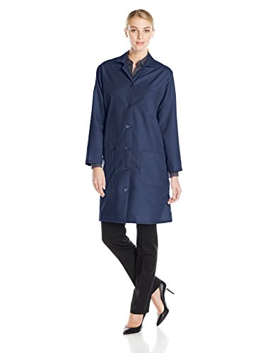 Red Kap Women's Lab Coat, Navy, Medium - Red Kap Womens Lab Coat
